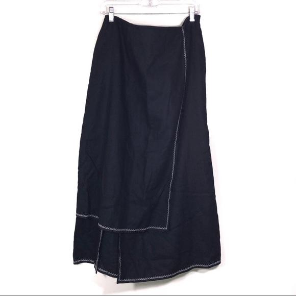 J. Jill Dresses & Skirts - Black J.jill symmetrical Langenlook Exposed Stitch